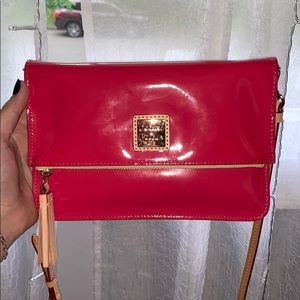 USED ONCE DOONEY & BURKE HOT PINK CROSSSBODY BAG
